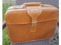 Vintage airmasters brown leather travel case