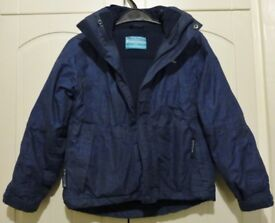 3 in 1 Fleece and rain Jacket aged 9-10 years by Mountain Warehouse