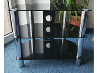 TV Stand Glass Black