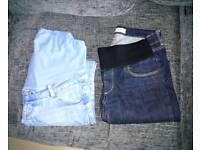 Ladies maternity jeans size 10