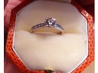 CHRISTMAS SPECIAL OFFER! NEW Beautiful Quality Diamond and Platinum Engagement Ring