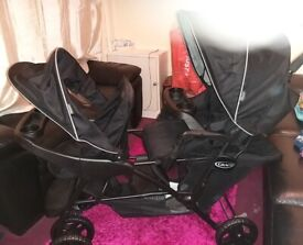 Double push chair pram Brand new and excellent condition👍 Still open for offer!!