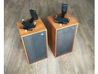 Pair of vintage Wharfdale Linton2 speakers (with wall brackets)