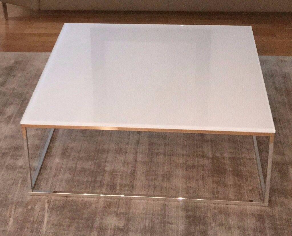 Natuzzi Glass Topped Coffee Table