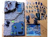 Halo Battlescape, various figures and accessories
