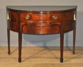 Attractive Small Antique Victorian Bow Front Mahogany Sideboard Side Cabinet