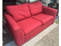John Lewis Jacob 3-seater sofa red cranberry