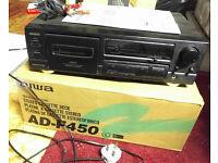Aiwa ADF 450 Cassette Tape Deck (Black) hi-fi Seperates - Dolby B/C