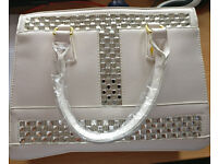White Fire Handbag Designed by Danbury Mint