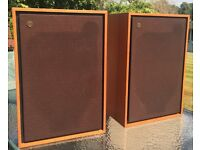 Tannoy dual concentric Devon speakers 1976 fully restored.