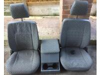 Landrover defender td5 front seats and cubby box