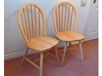 2 new solid pine chairs for sale