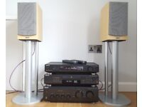 Sony Hifi Separates (amp, CD player, tuner), speakers and stands