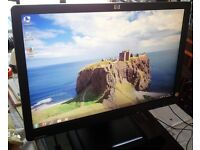 """HP 19"""" widescreen LCD monitor PC / Mac / Laptop - GOOD condition"""