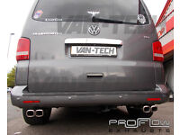 For sale: VW Transporter T5 custom exhaust with dual twin Tail pipes