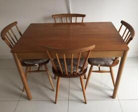 Ercol Kitchen Dining Table & Chairs