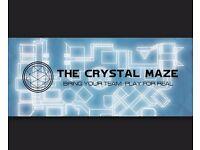 2 Crystal Maze London Tickets - 1st July 2017 - 1pm