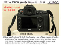 Nikon D800 36 MEGAPIXEL pro DSLR ( body only )