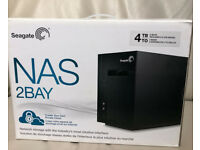 Seagate 4TB Cloud Business Network Storage 2 Bay NAS Gigabit Ethernet NEW SEALED