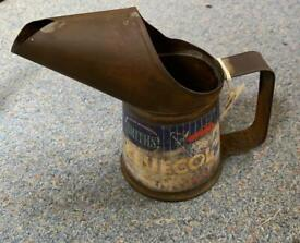 **SOLD** C. 1950's Smiths Bluecol Anti-Freeze Jug and Wesco Oil Can