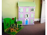Dolls house with park