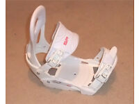 New SP RX 540 Snowboard Bindings S/M White