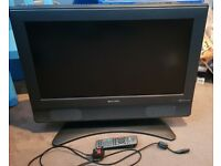 """sharp 26"""" hd ready lcd tv * hdmi and freeview*"""