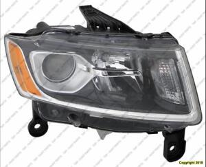 Head Lamp Passenger Side Halogen High Quality Jeep Grand Cherokee 2014-2016