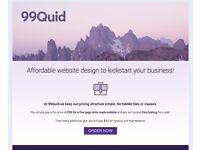 Affordable 5 page website design just £99