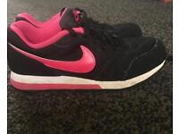 Size 3 pink & black girls Nike trainers