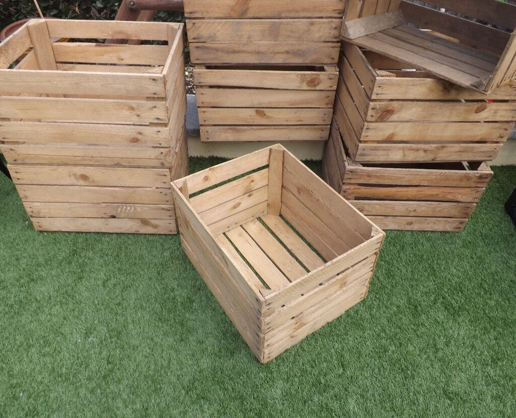 Rustic Wooden Apple Crate ~ Ideal Home Storage, Shelves, Bookcase, Christmas Display £12 EACH
