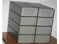 8x GePe 35mm slide storage box container with 2 magazines holding 50 slides each, £25 or make offer
