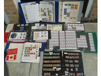 Stamp Collection: large old-fashioned schoolboy collection