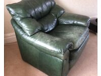 Old Leather Green Chair