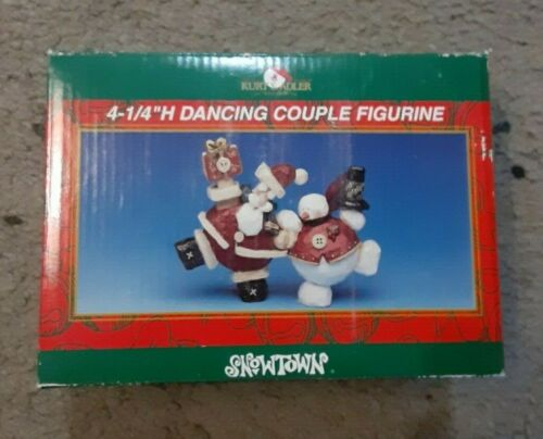 "KURT S. ADLER SNOWTOWN 4-1/4"" H DANCING COUPLE FIGURINE"