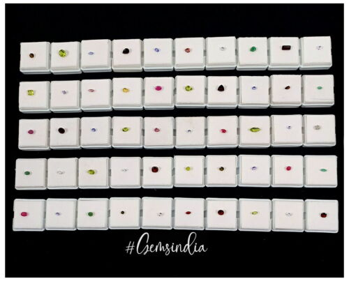Huge Mixed Lot 50 Genuine Semi-Precious Loose Gemstones Jeweler Collection Grade