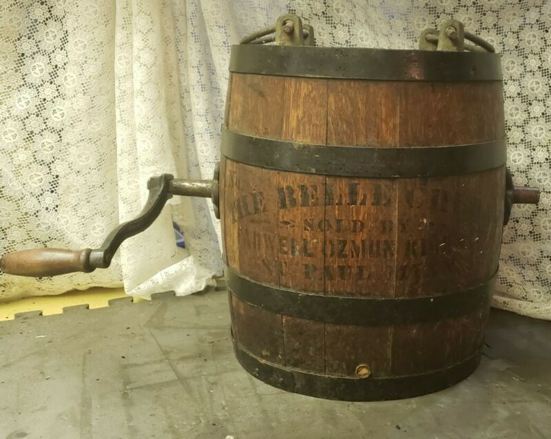 Vintage Wood Butter Barrel Churn The Belle Churn No. 0