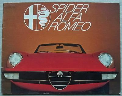 ALFA ROMEO SPIDER Car Sales Brochure c1977 FRENCH TEXT #772A489 JUNIOR & VELOCE