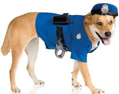 Police Dog Big Dogs Officer Cop Fancy Dress Up Halloween Pet Dog Cat Costume - Police Dog Costume Halloween