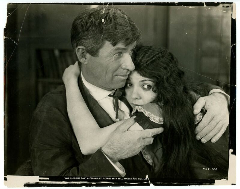 WILL ROGERS, LILA LEE original movie photo 1922 ONE GLORIOUS DAY