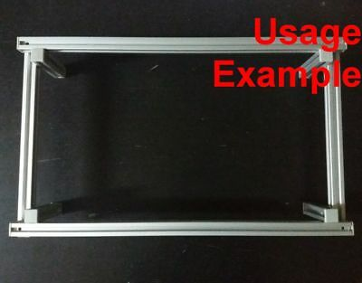 Aluminum T-slot 2020 Extruded Profile 20x20-6mm Frame Base 500x300x100mm - 1 Set