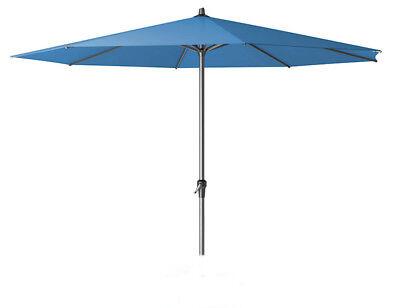 Sonnenschirm Marktschirm Kurbelschirm Schirm AVIO 350cm blau, von SIENA GARDEN (Markt Sonnenschirm Blau)