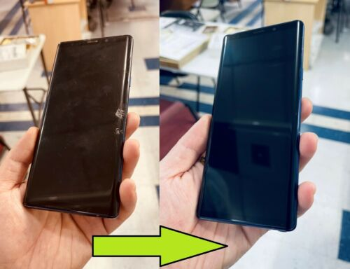 Samsung Galaxy Note 9 Cracked Screen Glass Repair & Back Glass Mail In Service