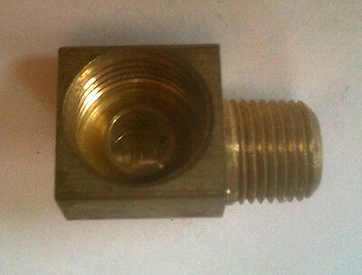 """Brass 90 Degree 1/4"""" Male Npt to 5/16"""" Inverted Female BE250312IF @ Speed Tech"""