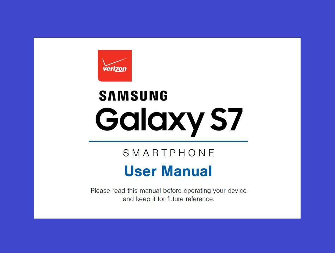 samsung galaxy s7 user manual for verizon model sm g930v. Black Bedroom Furniture Sets. Home Design Ideas