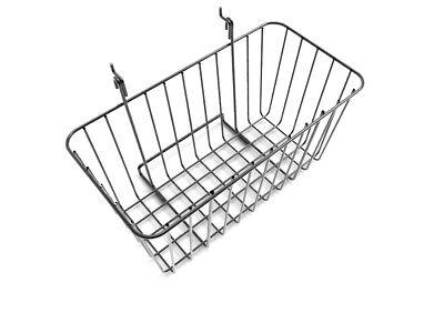 12x6 Metal Gridwall Basket Wire Holder Slatwall Hanging Basket Dump Bin Metal