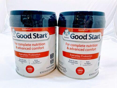 2X Gerber Good Start Gentle Pro (HMO) Non-GMO Infant Formula Powder 24 OZ EACH