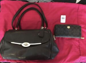 EUC Authentic Coach Madison Madeline Brown Leather  Bag 25166