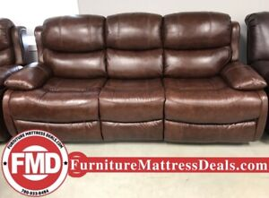 New Cognac Leather reclining loveseat, reclining sofa, recliner