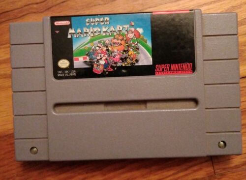 Authentic Super Mario Kart SNES, 1992  - $27.99